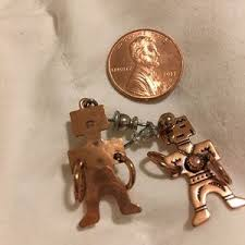 wm co jewelry copper navajo man earrings