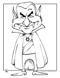 Small Picture Dracula Cartoon Halloween Coloring Page Woo Jr Kids Activities