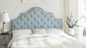 blue tufted headboard. Wonderful Blue Safavieh Arebelle Sky Blue Upholstered Tufted Headboard  Silver Nailhead  King For O