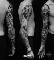 геометрическая композиция татуировки Rustattooru саратов
