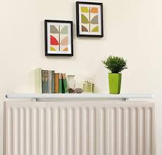 Image is loading White-Radiator-Shelves-Including-Easy-Fit-Brackets-Shelf-