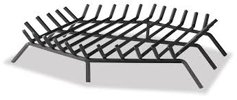 36 inch by 36 inch bar fireplace log grate hex shape