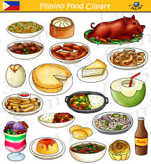 food clipart. Simple Food Filipino Food Clipart Bundle  From The Philippines U2013 4 School On