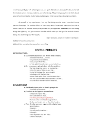 essay intro devlp concl  25 weaknesses