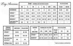 Leg Avenue Size Chart