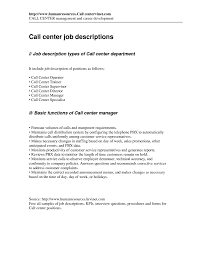 Call Center Agent Job Description For Resume Call Center Duties Savebtsaco 3