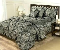 damask sheet sets gallery of jacquard duvet set bedding cool cover peaceful 3 comforter brilliant black damask bedding