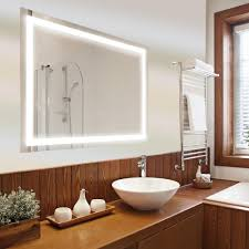 led wall mounted backlit vanity bathroom mirror