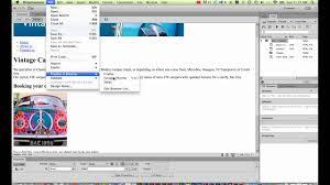 Creating navigation in Dreamweaver CC [11/34] - YouTube