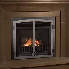 valor horizon with fenderfire double doors gas zero clearance fireplace