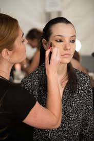 avon global celebrity makeup artist lauren andersen backse at the nicholas k spring 2016 runway show
