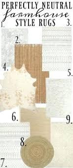 farmhouse style rugs the best neutral