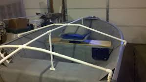 small boat cover support diy