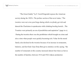 the great gatsby by f scott fitzgerald exposes the american  document image preview