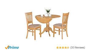 amazon east west furniture dlva3 oak c 3 piece kitchen nook dining table set oak finish kitchen dining