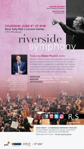 A symphony is a multi movement piece of music, most often written for a large instrumental force. Riverside Symphony Rivsymph Twitter