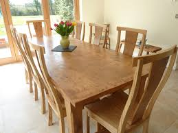 Oak Chairs For Kitchen Table Large Pippy Oak Dining Table And Chairs Quercus Furniture