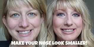 how to make a big nose look smaller tips tricks and contouring tutorial you
