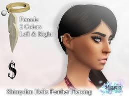 shimydim helix feather piercing