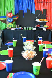 Pj Mask Party Decorations PJ Masks Birthday Party Ideas And Free Printables The Suburban Mom 11