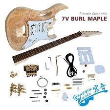 kit de guitarra eléctrica de 7 v diy conjunto de accesorios de guitarra de cuello de arce