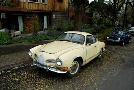 old parked cars 1970 volkswagen karmann ghia coupe
