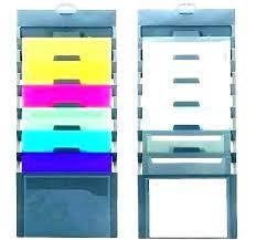 hanging folder organizer wall mounted holder file rack box fold