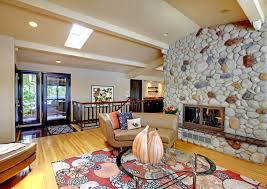 living room with stone fireplace. there\u0027s no denying stone fireplaces enhance the sappearance of a living room. if you love old world character cobblestone, use it to frame out your room with fireplace r