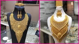 Gold Set Design Dubai Latest Gold Bridal Necklace Sets Designs Dubai Gold Souk