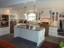 Slate Floors In Kitchen Magnolia Mommy Made Kitchen Remodel With Arabesco Gray And White