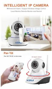 Home Network Security Appliance Kerui N62 720p Wifi P2p Network Security Camera Support 32g Sd Pan
