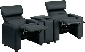 reclining chair covers kids black leather reclining theater seating with storage console bk lea recliners for