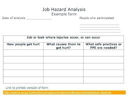 job safety analysis template hazard analysis template job inspirational process safety management