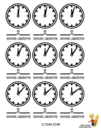 Clock Colouring Sheets Of Minutes 12