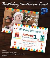 Birthday Invitation Template - 32+ Free Word, PDF, PSD, AI, Format ... First Birthday Invitation Template