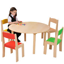 round beechwood table