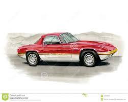 Lotus Elan Sprint editorial stock image. Illustration of sketch ...
