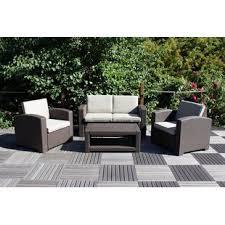coogan 4 seater rattan effect sofa set