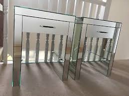 next mirrored furniture. 2 X Next Mirrored Glass Bedside Tables Cabinets Furniture