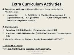 Resume Example Extracurricular Activities Resume Ixiplay Free