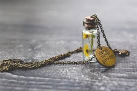 16 glass vial pendant and necklace