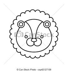 かわいい ライオン 動物 アイコン
