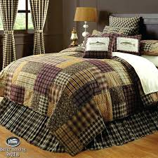 country lodge quilt bedding sham rustic bedding comforter brown log cabin fish lodge twin queen cal