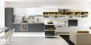modern home interior design kitchen. Modern Awesome Interior Design Kitchen With Grey Cabinets And Cozy Living Room Home E