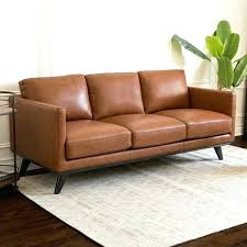 abbyson camel mid century top grain leather sofa erica sectional living couches