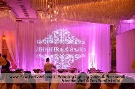 Wedding Lighting Rental Vancouver Pan Pacific Hotel Monogram Gobo Gobo Projector Rental Vancouver