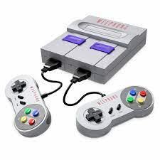 HDMI TV Máy Chơi Game 8 Bit Máy Chơi Game SNES Hoài Cổ SFC Siêu Nhà Phiên  Bản Châu Âu/Mỹ Phiên Bản 821 trò Chơi|Video Game Consoles