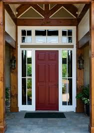 front door with one sidelightDoor Sidelites  8ft Craftsman 6 Lite Knotty Alder Front Entry