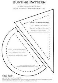 Free Bunting Printable Pattern- Great For Parties, Holidays, Showers ...