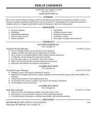 Project Management Resume Format Lcysne Com